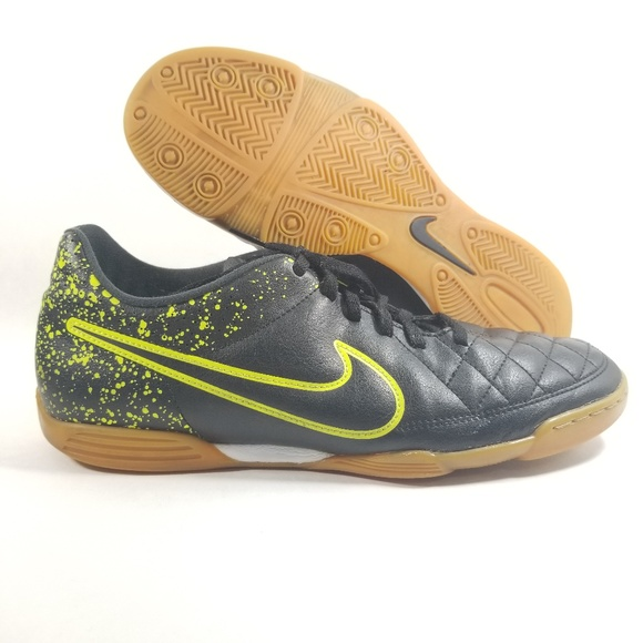 e037dc0b84ad Nike Shoes | Tiempo Rio Ii Ic Black Volt Green Indoor | Poshmark